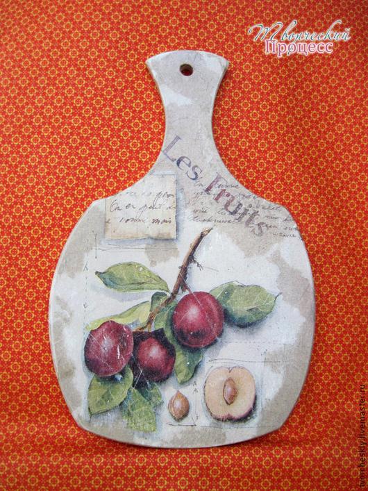 """Кухня ручной работы. Ярмарка Мастеров - ручная работа. Купить Разделочная доска """"Les Fruits"""". Handmade. Разделочная доска"""
