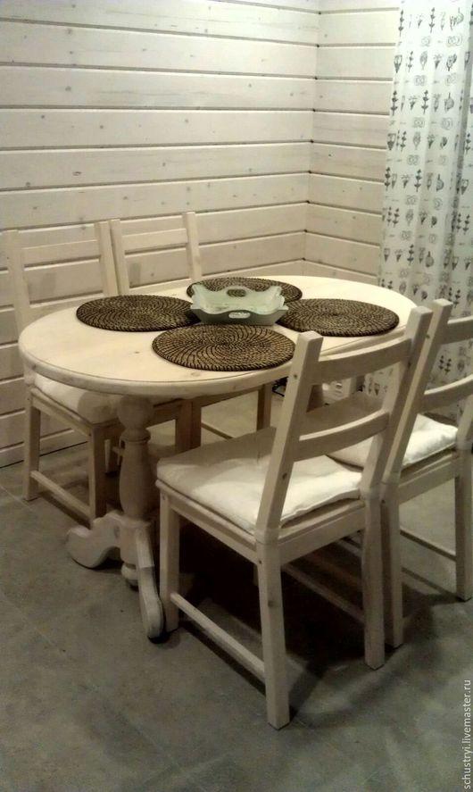 Мебель ручной работы. Ярмарка Мастеров - ручная работа. Купить Стол в эко- стиле из массива кедра Северная венеция. Handmade.
