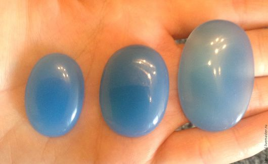 Для украшений ручной работы. Ярмарка Мастеров - ручная работа. Купить Халцедон натуральный голубой кабошон. Handmade. Голубой