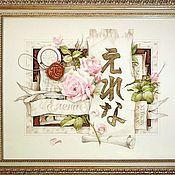Картины и панно ручной работы. Ярмарка Мастеров - ручная работа Коллаж-обманка для именинницы. Handmade.