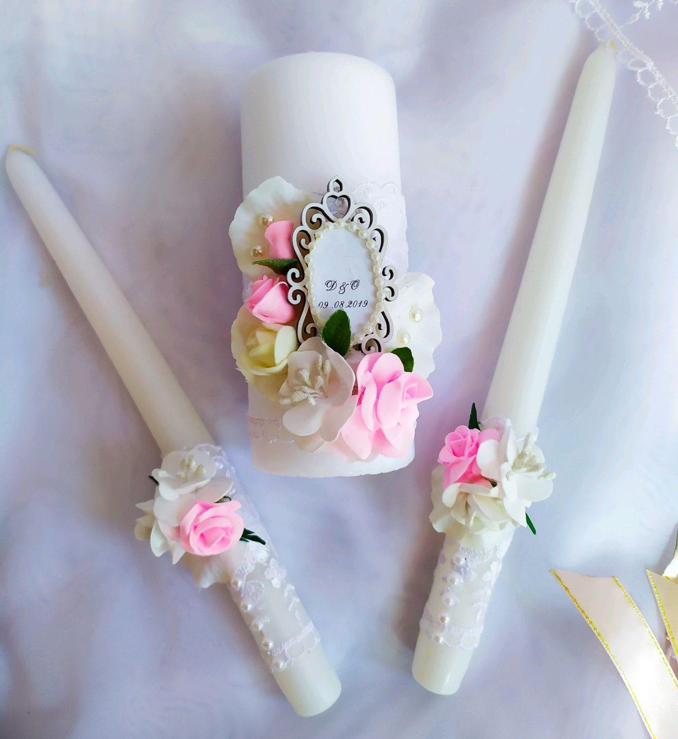 """Свадебные свечи """"Нежный цвет"""", Свечи, Сочи, Фото №1"""