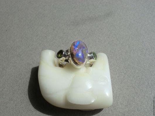 """Кольца ручной работы. Ярмарка Мастеров - ручная работа. Купить кольцо """"Подводный мир"""". Handmade. Кольцо с опалом, драгоценности"""