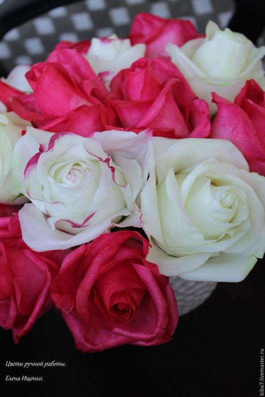 Интерьерные композиции ручной работы. Ярмарка Мастеров - ручная работа. Купить Букет роз из полимерной глины керамическая флористика. Handmade.
