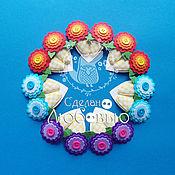 """Работы для детей, ручной работы. Ярмарка Мастеров - ручная работа Заколки для волос из фетра """"Цветочки №2"""". Handmade."""