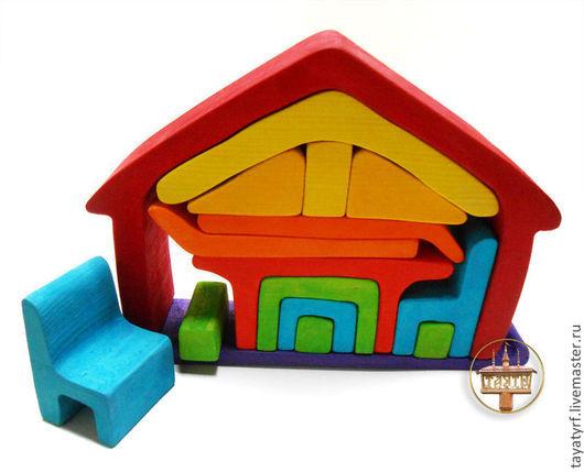Развивающие игрушки ручной работы. Ярмарка Мастеров - ручная работа. Купить Набор игрушечной мебели. Handmade. Игрушка ручной работы