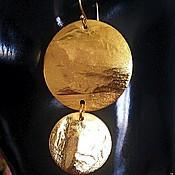 """Украшения ручной работы. Ярмарка Мастеров - ручная работа Серьги """" Золото"""". Handmade."""