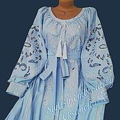 Одежда handmade. Livemaster - original item Dress-embroidery. Boho. Richelieu.. Handmade.