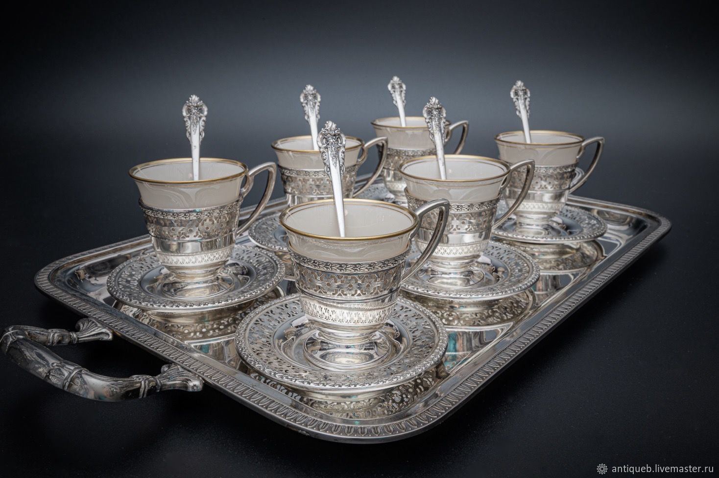 Coffee cups made of silver, Mugs and cups, Moscow,  Фото №1
