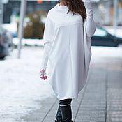 Одежда handmade. Livemaster - original item Large size loose cotton tunic - TU0449PM. Handmade.