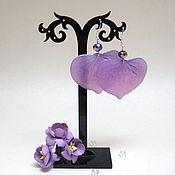 Украшения handmade. Livemaster - original item Earrings Flower Petals Lilac Purple Nature Flora. Handmade.