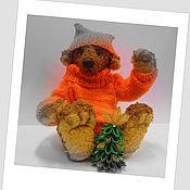 Куклы и игрушки ручной работы. Ярмарка Мастеров - ручная работа новогодний мишкка. Handmade.