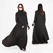 Одежда handmade. Livemaster - original item Long cotton dress, Fashionable elegant dress - DR0156PM. Handmade.