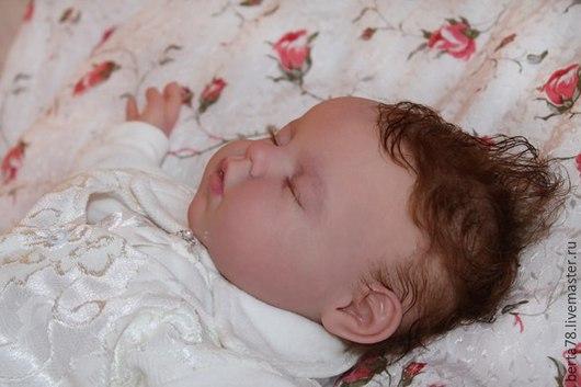 Куклы-младенцы и reborn ручной работы. Ярмарка Мастеров - ручная работа. Купить Спящий малыш. Handmade. Бледно-розовый, ной