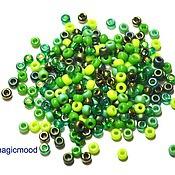 Материалы для творчества handmade. Livemaster - original item 10 grams 8/0 Miyuki MIX 03. green Japanese Miyuki beads mix round. Handmade.
