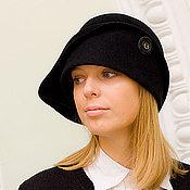 Аксессуары handmade. Livemaster - original item Hat Cloche black. Handmade.