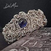 Украшения handmade. Livemaster - original item Bracelet with sapphire metal melchior stone