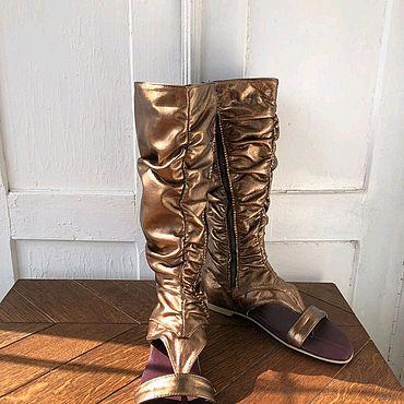 Обувь ручной работы. Ярмарка Мастеров - ручная работа Летние сапоги. Handmade.