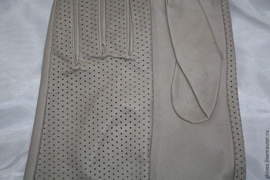 Варежки, митенки, перчатки ручной работы. Ярмарка Мастеров - ручная работа. Купить Перчатки женские перфорированые без подкладки. Handmade.