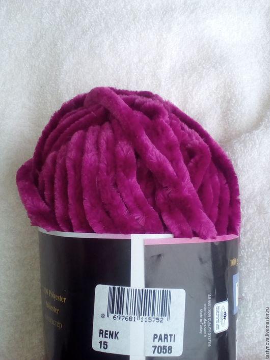 Вязание ручной работы. Ярмарка Мастеров - ручная работа. Купить Толстая плюшевая велюровая пряжа для пледов. Handmade. Пряжа для вязания