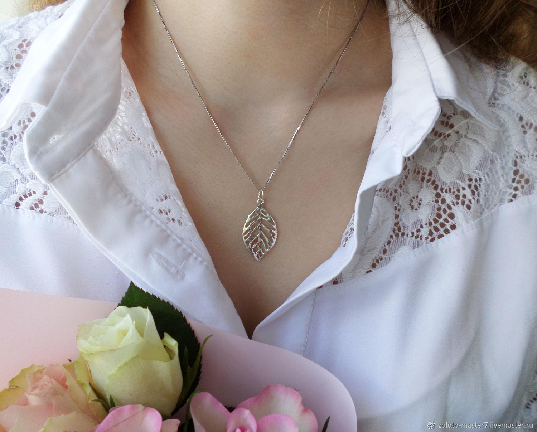 Suspension leaf. 925 sterling silver, Pendants, Chaikovsky,  Фото №1