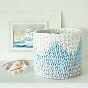 Для дома и интерьера ручной работы. Ярмарка Мастеров - ручная работа Корзина Ромб голубая. Handmade.