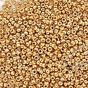 Материалы для творчества ручной работы. Ярмарка Мастеров - ручная работа Miyuki 24К  №15 золотое покрытие японский бисер 24 каратный 5 гр. Handmade.