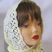 Работы для детей, handmade. Livemaster - original item HANDKERCHIEF to the TEMPLE openwork knitted scarf. Handmade.