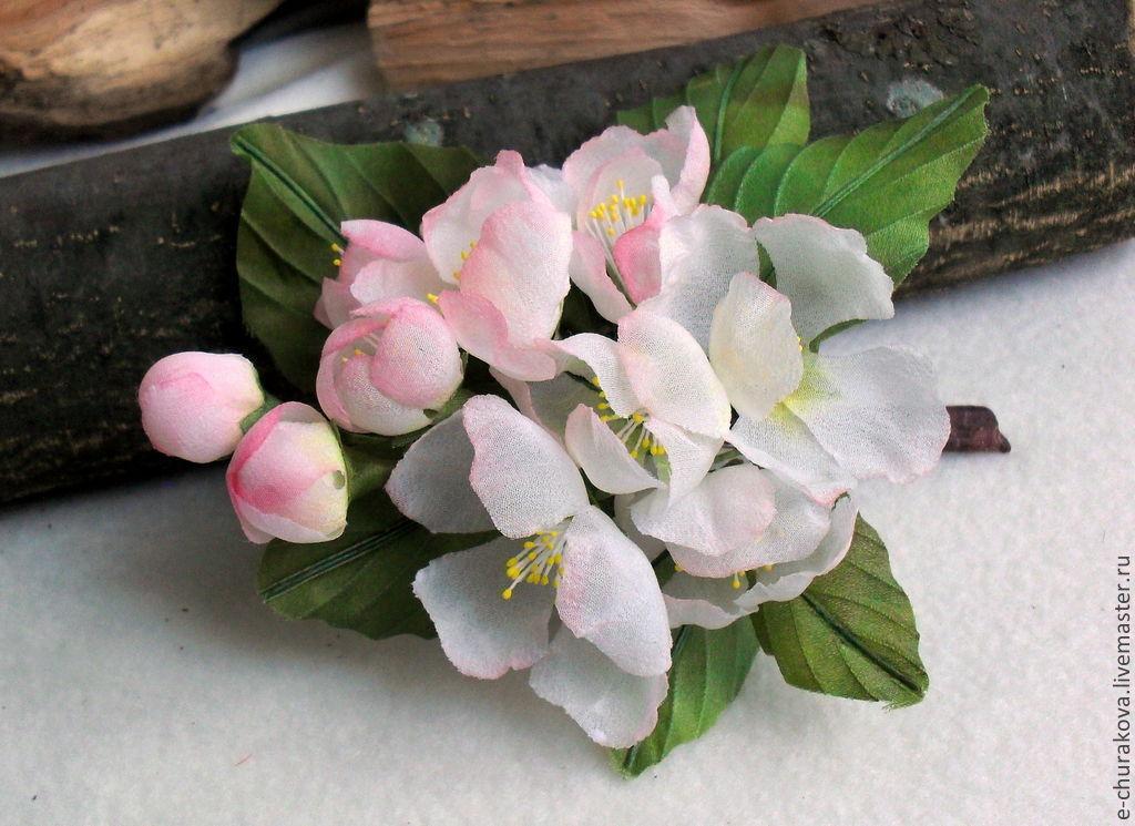 Цветок яблони из ткани своими руками - Vento-divino.ru