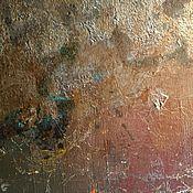 Дизайн и реклама ручной работы. Ярмарка Мастеров - ручная работа Эффект ржавчины на стене текстурными штукатурками и поталью. Handmade.