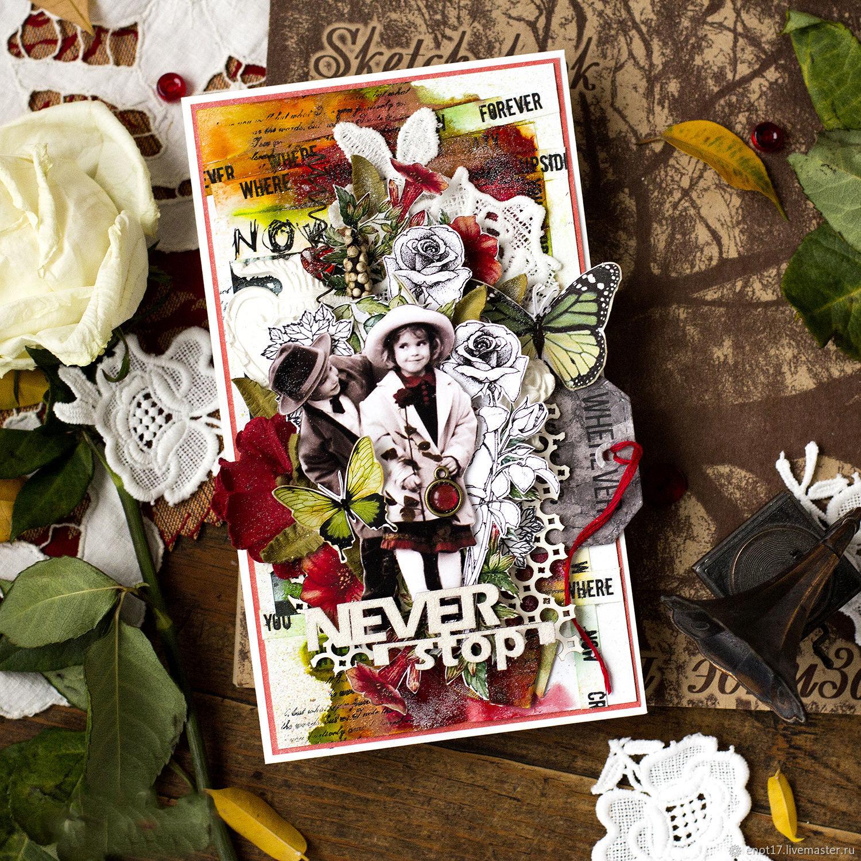 Красочная объёмная открытка Never Stop, Открытки, Санкт-Петербург,  Фото №1