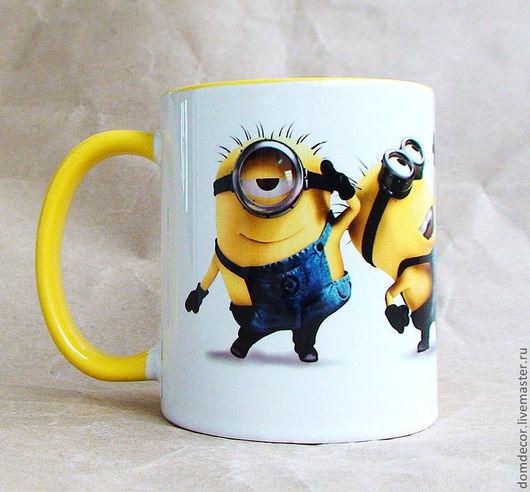 """Кружки и чашки ручной работы. Ярмарка Мастеров - ручная работа. Купить Чашка """"Миньоны"""". Handmade. Желтый, гадкий я, день рождения"""