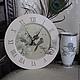 """Часы для дома ручной работы. Ярмарка Мастеров - ручная работа. Купить Часы """"Птичка на ветке"""". Handmade. Часы, подарок девушке"""