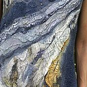 Одежда handmade. Livemaster - original item DOVE silk felted dress. Handmade.