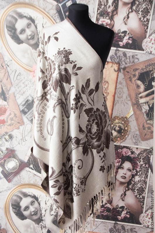 """Шали, палантины ручной работы. Ярмарка Мастеров - ручная работа. Купить Палантин шарф женский  Dimin """"Комплимент"""" бежево-коричневый.. Handmade."""