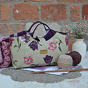 Для дома и интерьера ручной работы. Ярмарка Мастеров - ручная работа Сумка-корзинка для рукоделия # 2. Handmade.
