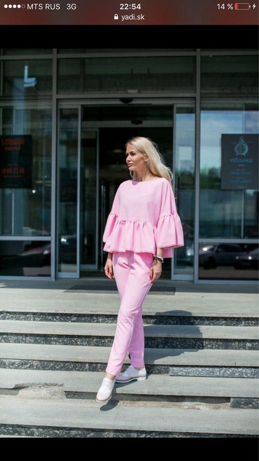 Костюмы ручной работы. Ярмарка Мастеров - ручная работа. Купить Розовый костюм. Handmade. Одежда для женщин, одежда на заказ