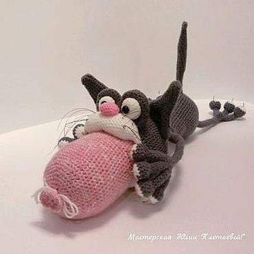 Куклы и игрушки ручной работы. Ярмарка Мастеров - ручная работа Кот обжорка,кот вязаный. Handmade.