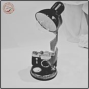 Подарки к праздникам ручной работы. Ярмарка Мастеров - ручная работа Подарок для Фотографа - Настольная лампа в стиле Ретро. Handmade.