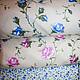 Розовые цветы №1 Синие цветы №2