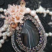 Украшения handmade. Livemaster - original item Brooch embroidered with beads