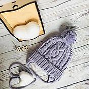 Аксессуары handmade. Livemaster - original item Cap for toddler, grey. Handmade.