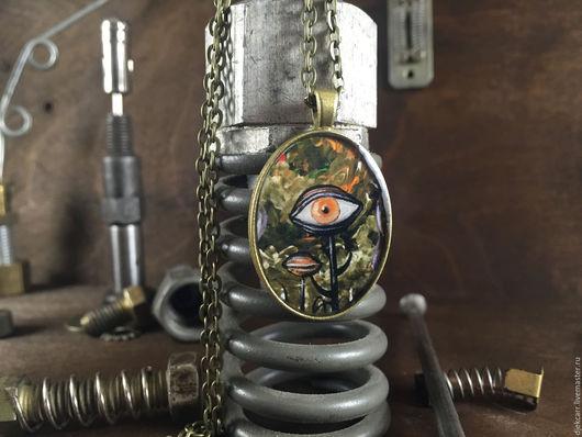"""Готика ручной работы. Ярмарка Мастеров - ручная работа. Купить Кулон """"Disarray"""" в бронзовой оправе. Handmade. Комбинированный, бронзовый кулон"""