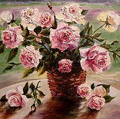 """Картины и панно ручной работы. Ярмарка Мастеров - ручная работа """" Букет роз """" (копия).. Handmade."""