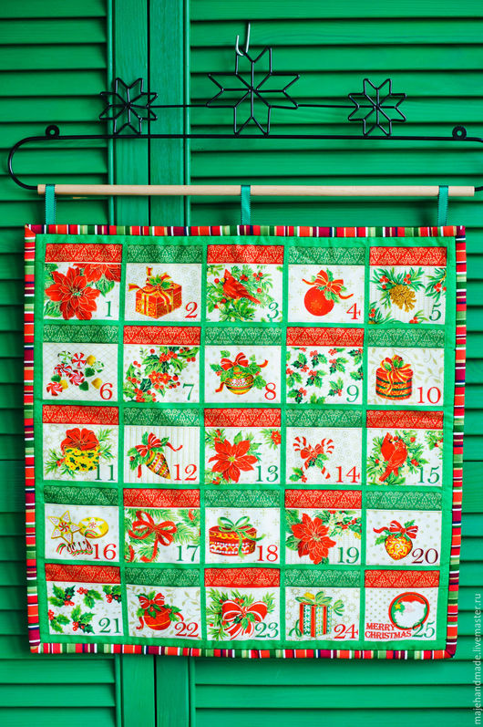 """Детская ручной работы. Ярмарка Мастеров - ручная работа. Купить Адвент-календарь """"Праздничный"""". Handmade. Комбинированный, новогодний подарок"""