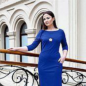 Одежда handmade. Livemaster - original item New - Jersey Dress with pockets - color cobalt. Handmade.
