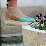 Кроссовки ручной работы. Ярмарка Мастеров - ручная работа +++Анатомические кожаные кроссы. Handmade.