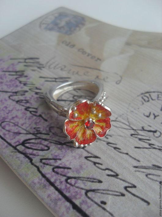 """Кольца ручной работы. Ярмарка Мастеров - ручная работа. Купить Кольцо серебрянное """"Цветок Апельсина"""". Handmade. Комбинированный, кольцо с цветком"""