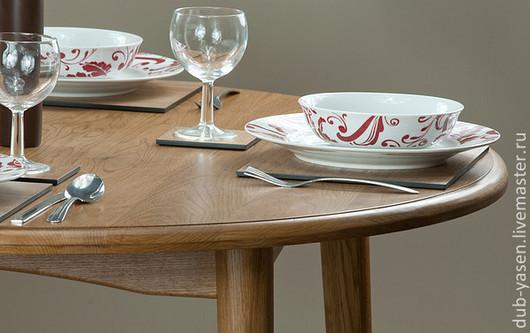 """Мебель ручной работы. Ярмарка Мастеров - ручная работа. Купить Обеденный стол из дуба """"Шале"""". Handmade. Коричневый, столовая, кухня"""