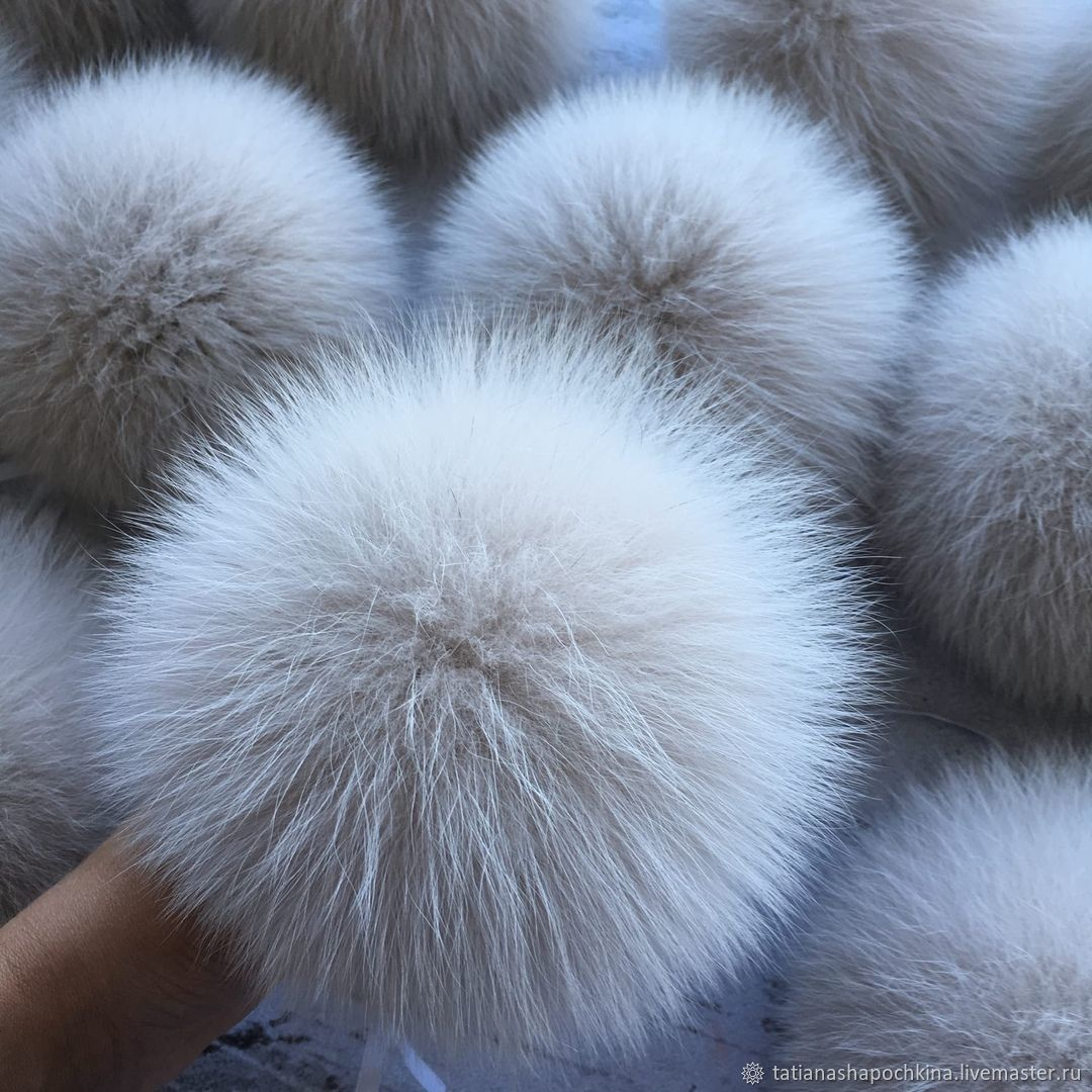 POM-poms: Light beige Arctic Fox, Pompons, Arkhangelsk,  Фото №1