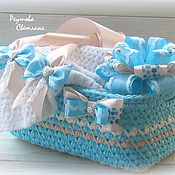 Работы для детей, handmade. Livemaster - original item Gift set for discharge from the hospital for boy. Handmade.